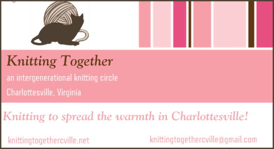 Knitting Together Charlottesville Business Card