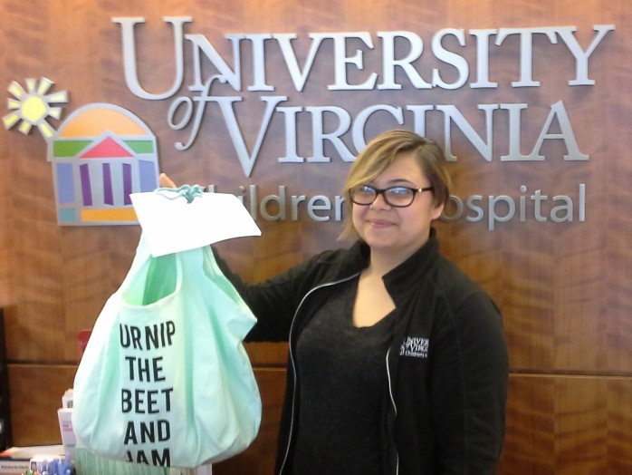 Cantaloupe Hat Delivery to UVa Children's Hospital